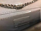 Сумка, клатч Kate Ив Сен Лоран гладкая натуральная кожа, цвет серый, фото 7