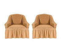 Чехол на кресло жатка-креш универсальный Karven бежевого цвета (натяжной)