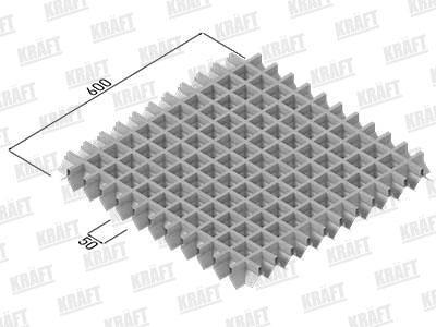 Підвісні стелі KRAFT грильято пірамідальний  50х50