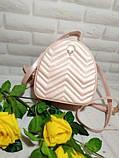 Рюкзак-сумка городской женский FULANPERS  (жемчужно-розовый), фото 2