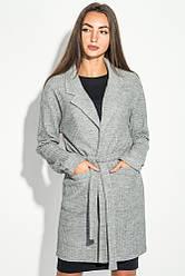 Кардиган женский теплый 64PD304 (Серый меланж)