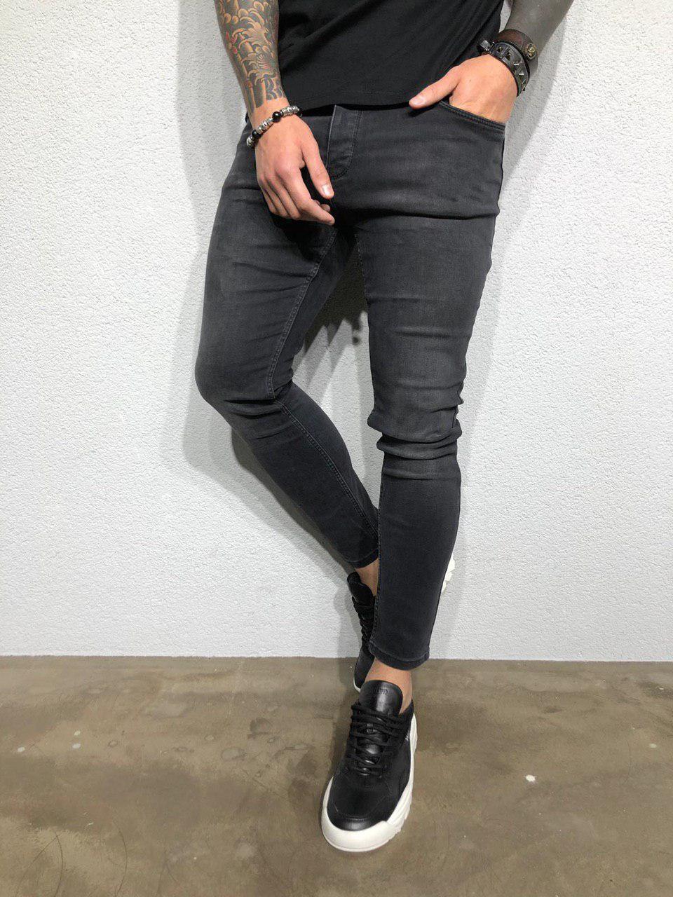 6d8610d2df4 Джинсы мужские зауженные черные ZARA топ реплика - Интернет-магазин обуви и  одежды KedON в