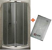 Полукруглая душевая кабинка 90x90 см Eger Balaton 599-507 на мелком поддоне + Банное полотенце