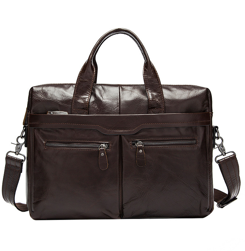 Мужская кожаная сумка Texas E7924 коричневая