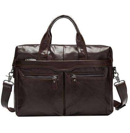 Мужская кожаная сумка Texas E7924 коричневая, фото 2