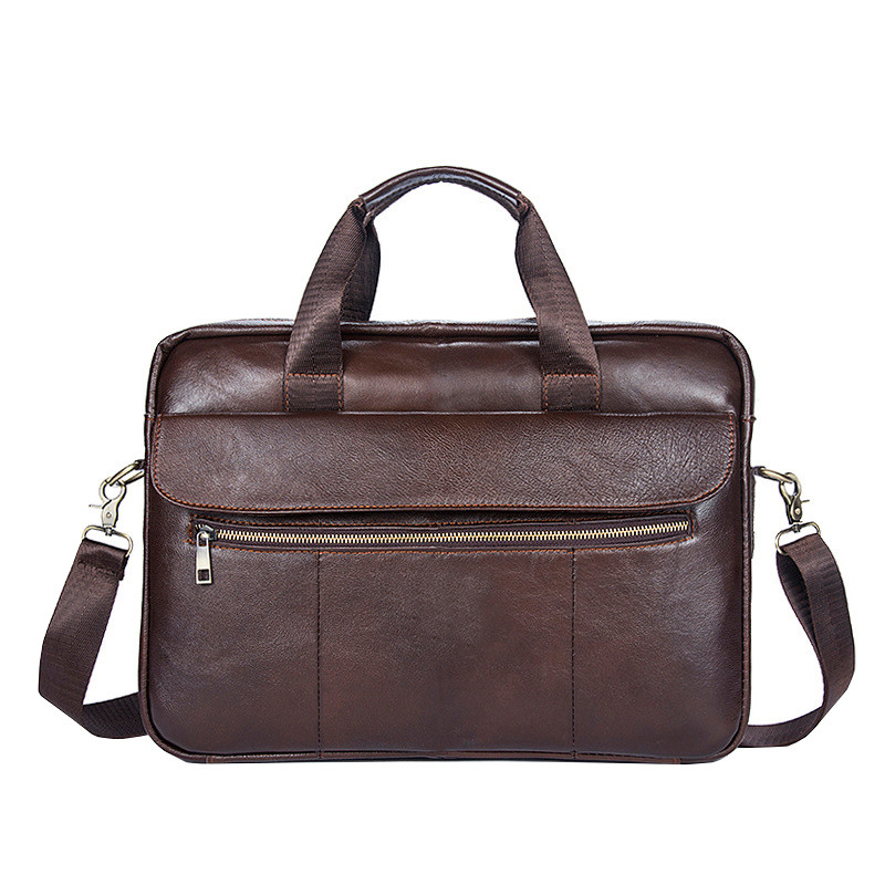 Сумка мужская кожаная TIDING BAG коричневая eps-5010