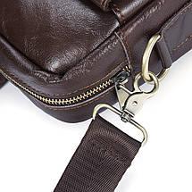 Сумка мужская кожаная TIDING BAG коричневая eps-5010, фото 2