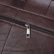 Сумка мужская кожаная TIDING BAG коричневая eps-5010, фото 3
