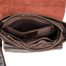 Сумка мужская кожаная TIDING BAG ER темно-коричневая, фото 3