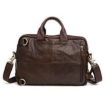 Сумка-рюкзак мужская кожаная Texas Joyir коричневый, фото 3
