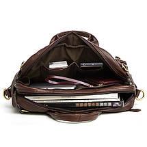 Сумка-рюкзак мужская кожаная Texas Joyir коричневый, фото 2