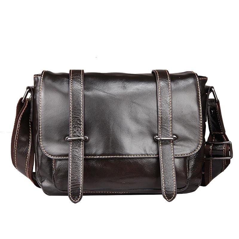Сумка мужская кожаная TIDING BAG WS черная eps-5016