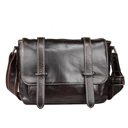 Сумка мужская кожаная TIDING BAG WS черная eps-5016, фото 2