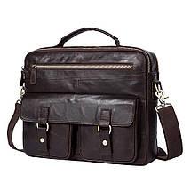 Сумка мужская кожаная TIDING BAG SD коричневая eps-5017, фото 2