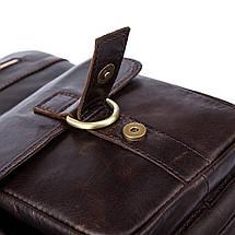 Сумка мужская кожаная TIDING BAG SD коричневая eps-5017, фото 3