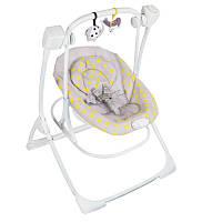 Кресло-качалка Cozy Duet Duet Minii Mono Серый с желтым