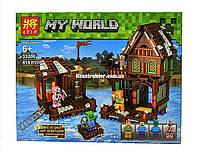 "Конструктор Lele 33206 Minecraft ""Домик на pекe 2 в 1"" 414 детали. Аналог Lego Minecraft, фото 1"