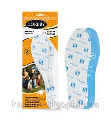 Corbby PROTECT стельки демисезонные латекс + х/б. ( с пропиткой SANITIZED )