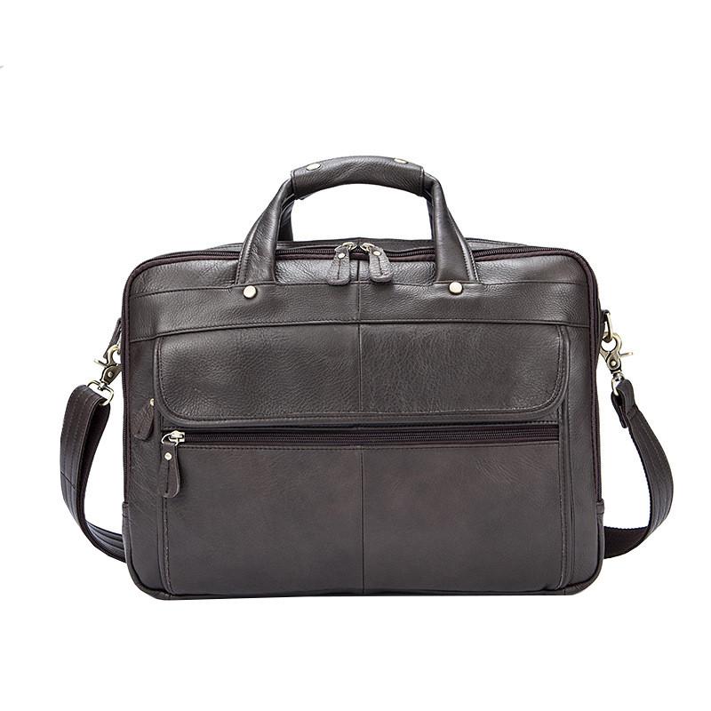 Мужская кожаная сумка Texas XE коричневая