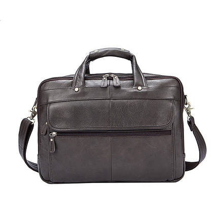 Мужская кожаная сумка Texas XE коричневая, фото 2