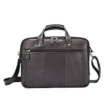 Мужская кожаная сумка Texas XE коричневая, фото 3