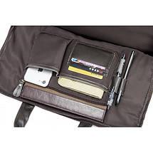 Мужская кожаная сумка Texas XE коричневая eps-5031, фото 3