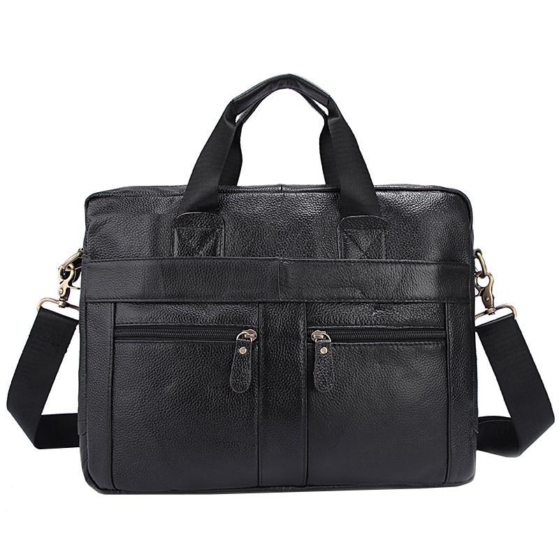Сумка мужская кожаная TIDING BAG NT черная