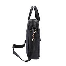 Сумка мужская кожаная TIDING BAG NT черная, фото 3