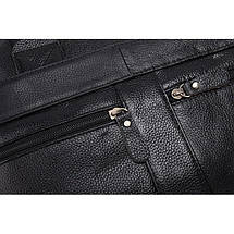 Сумка мужская кожаная TIDING BAG NT черная, фото 2
