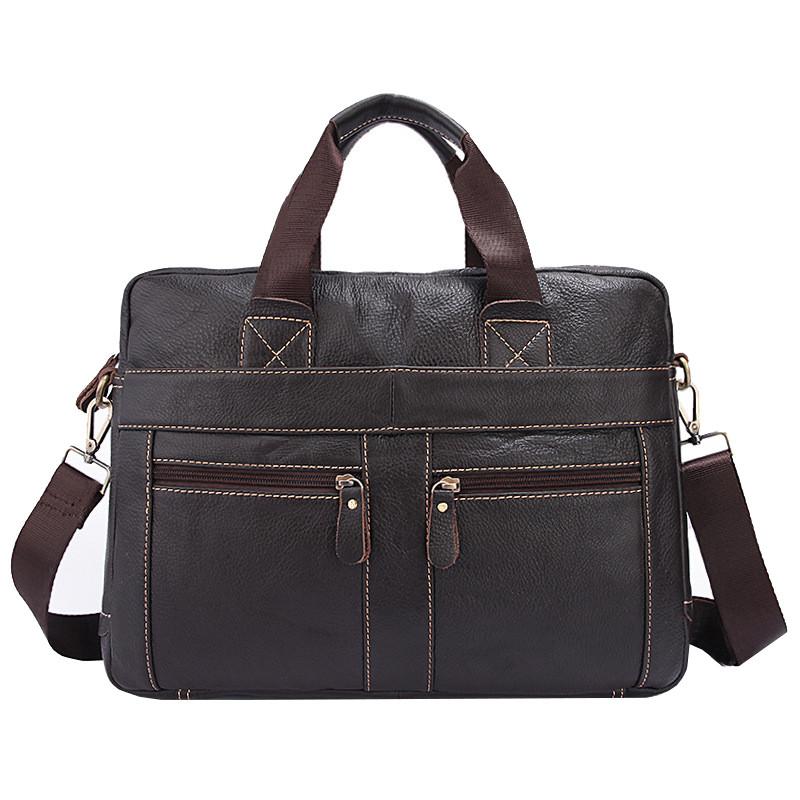 Сумка мужская кожаная TIDING BAG NT темно-коричневая eps-5033