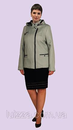 Короткая женская куртка с капюшоном 52-60р, фото 2