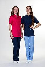 Красивая коттоновая медицинская куртка в большой цветовой гамме, фото 2