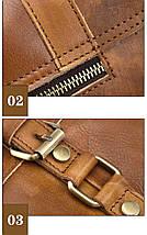 Сумка мужская кожаная Texas CV светло-коричневая, фото 3