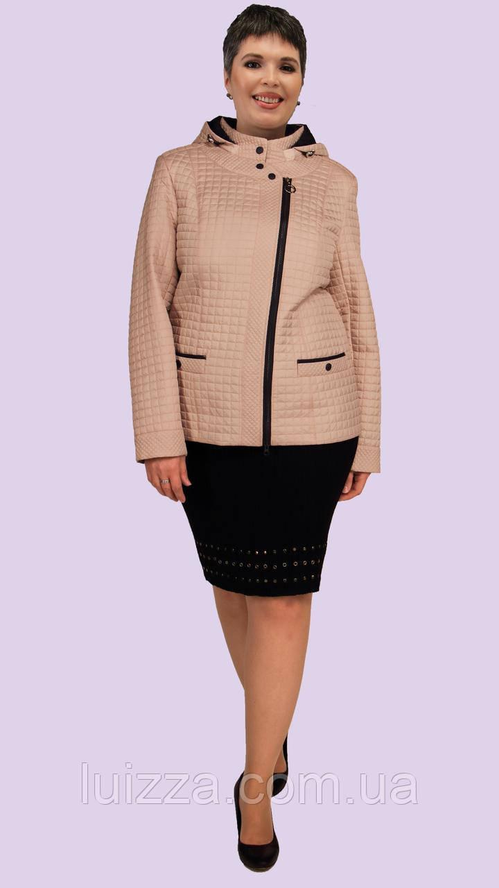 Короткая женская куртка с капюшоном 52-60р