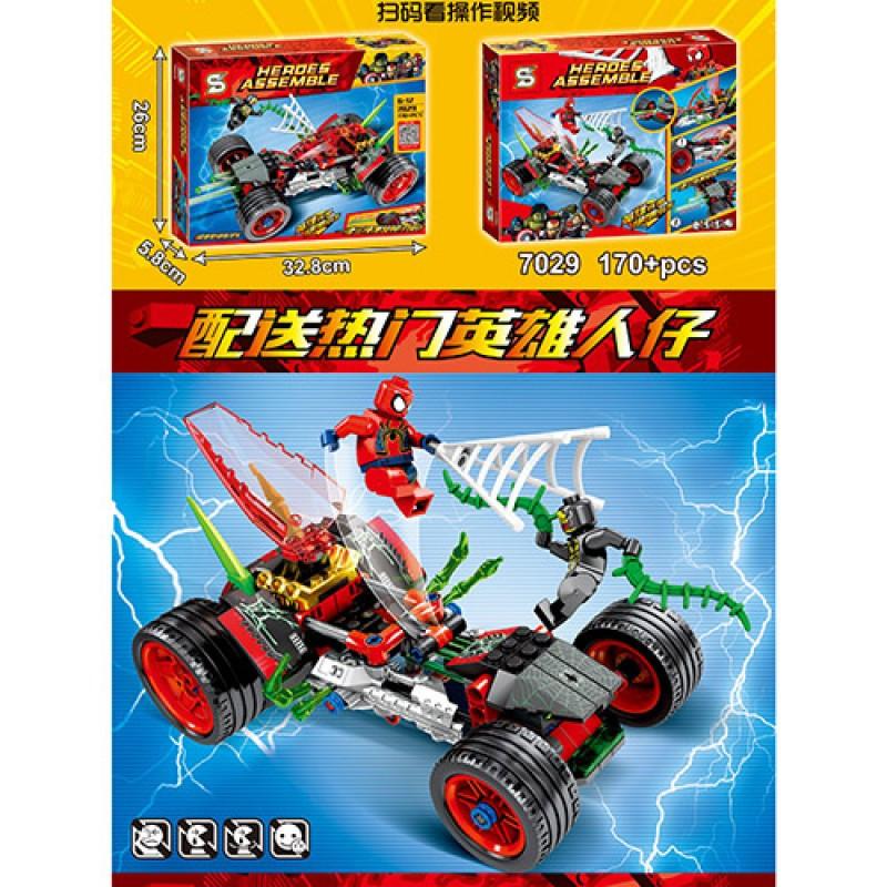 Конструктор аналог лего из серии Супер герои Человек паук - Автомобиль Спайдермена на 170 деталей, SY7029