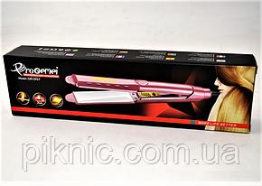 Утюжок керамический для выравнивания волос Pro Gemei с регулятором температуры, фото 2