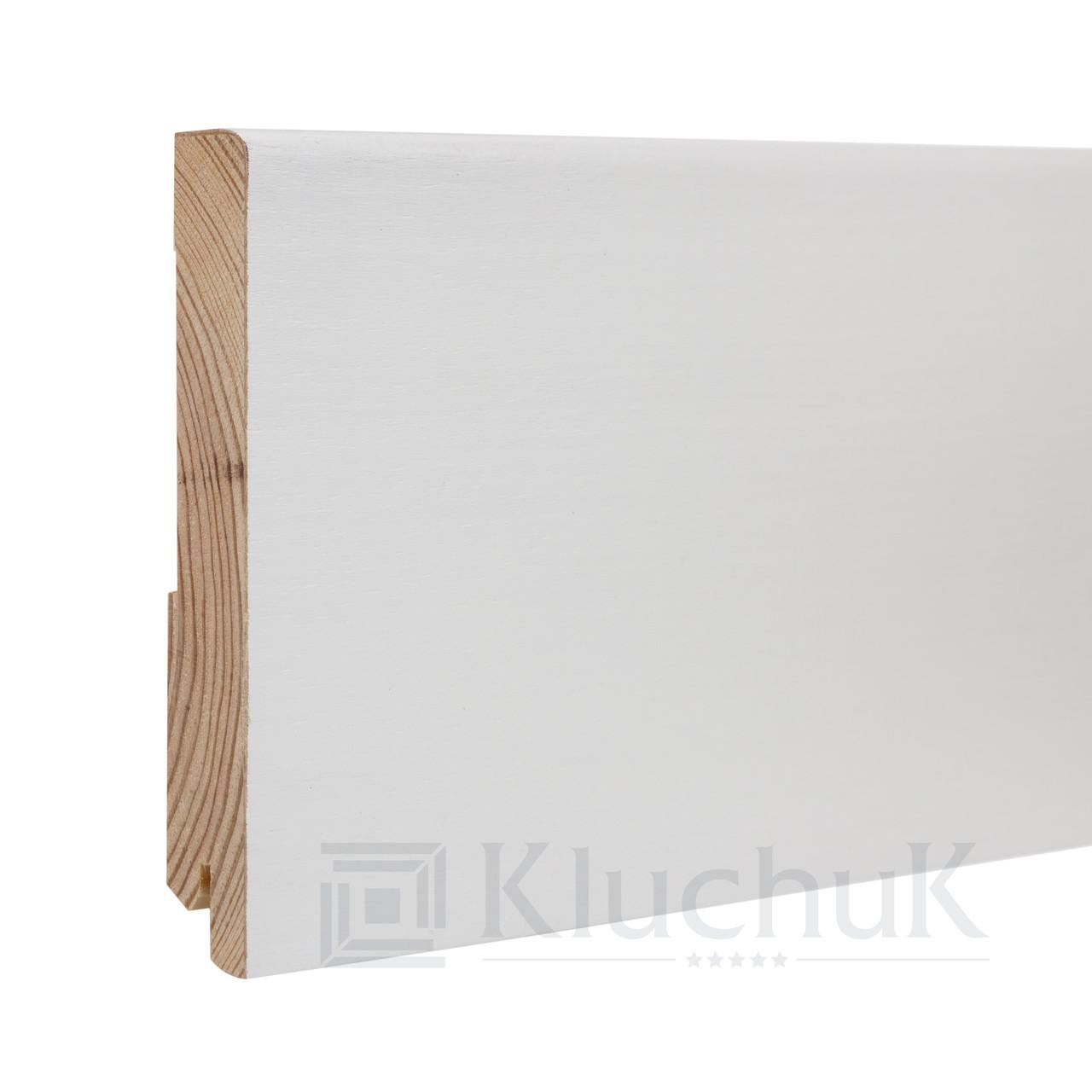 Плинтус Kluchuk White Plinth KLW-07 Модерн 120мм