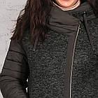Модная женская комбинированная ветровка - модель 2019 - (кт-461), фото 3