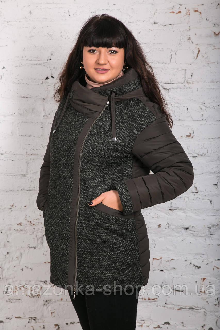 Модная женская комбинированная ветровка - модель 2019 - (кт-461)