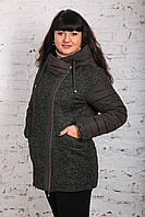 Модная женская комбинированная ветровка - модель 2019 - (кт-461), фото 1