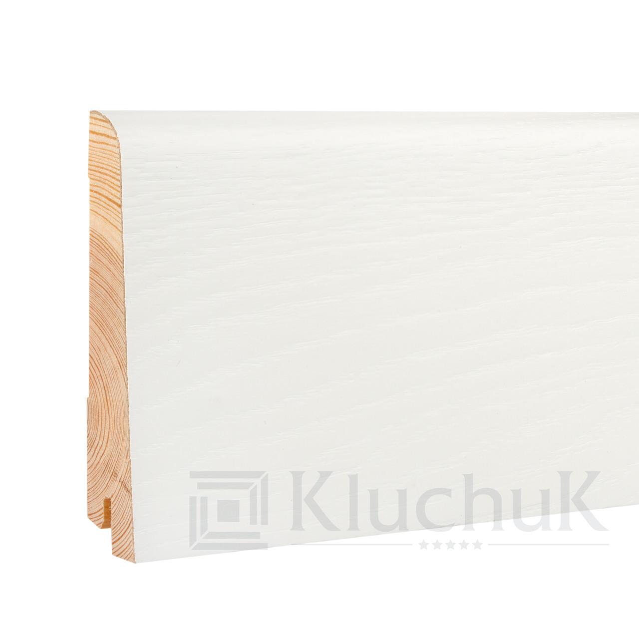 Плинтус Kluchuk White Plinth KLW-05 Евро 100мм
