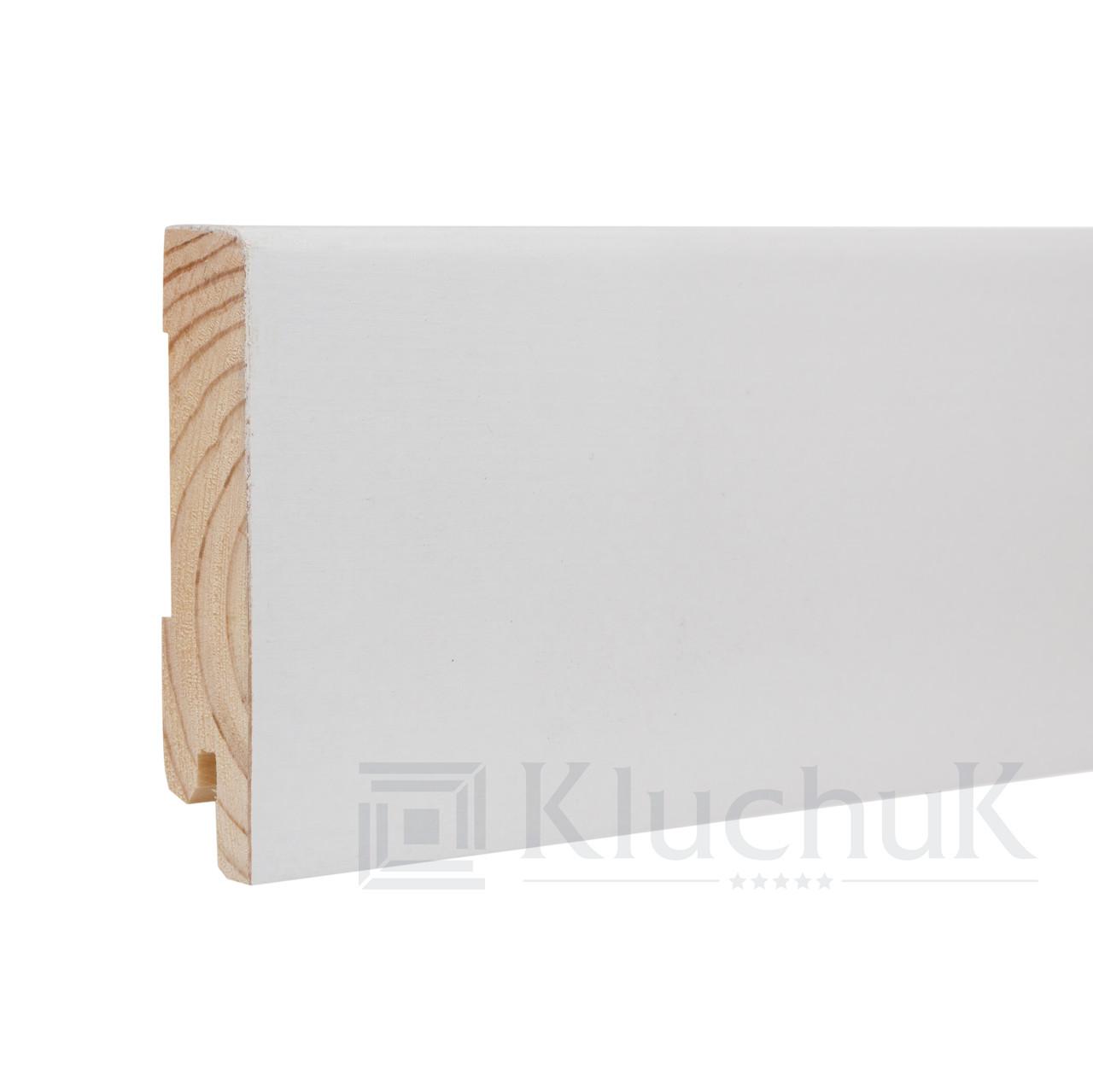 Плинтус Kluchuk White Plinth KLW-04 Модерн 80мм