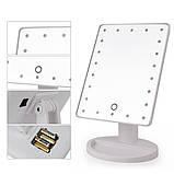 Косметичне дзеркало з LED підсвічуванням для макіяжу настільне Large Mirror, фото 6