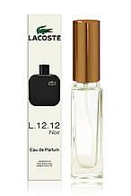 Мини-парфюм мужской Lacoste Eau De L.12.12 Noir, 20 ml.