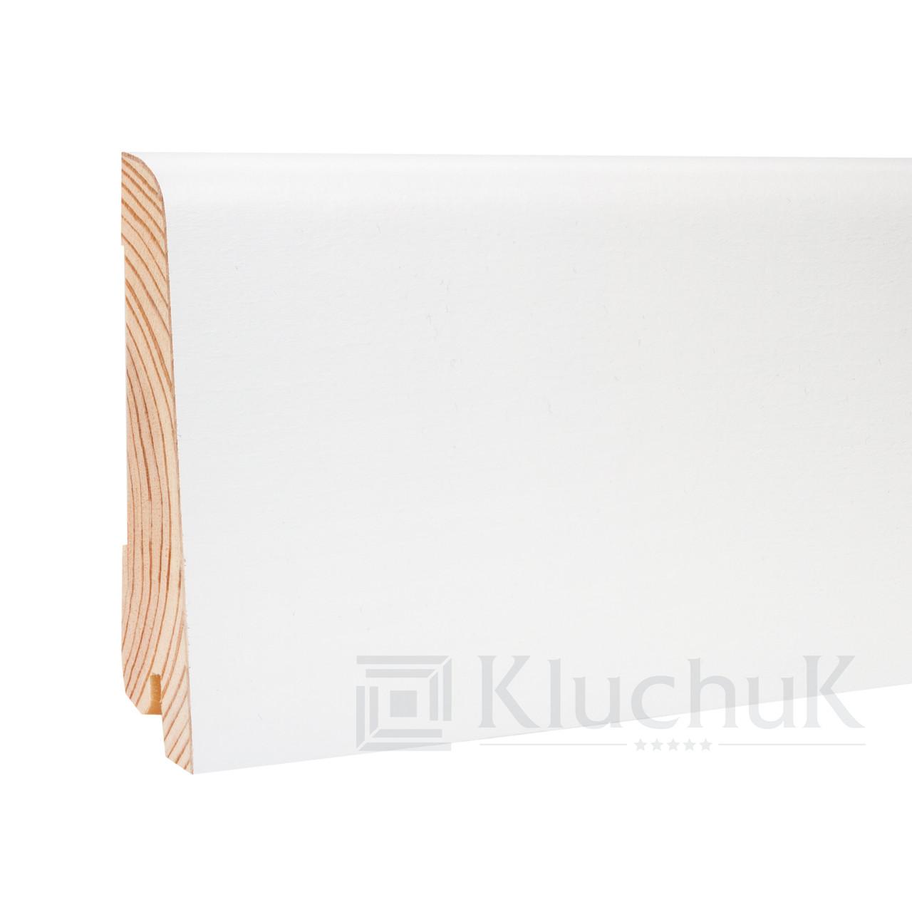 Плинтус Kluchuk White Plinth KLW-03 Евро 80мм