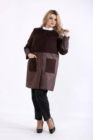 Новинка! пальто комбинированное большие размеры плюс сайз 42-74, фото 2