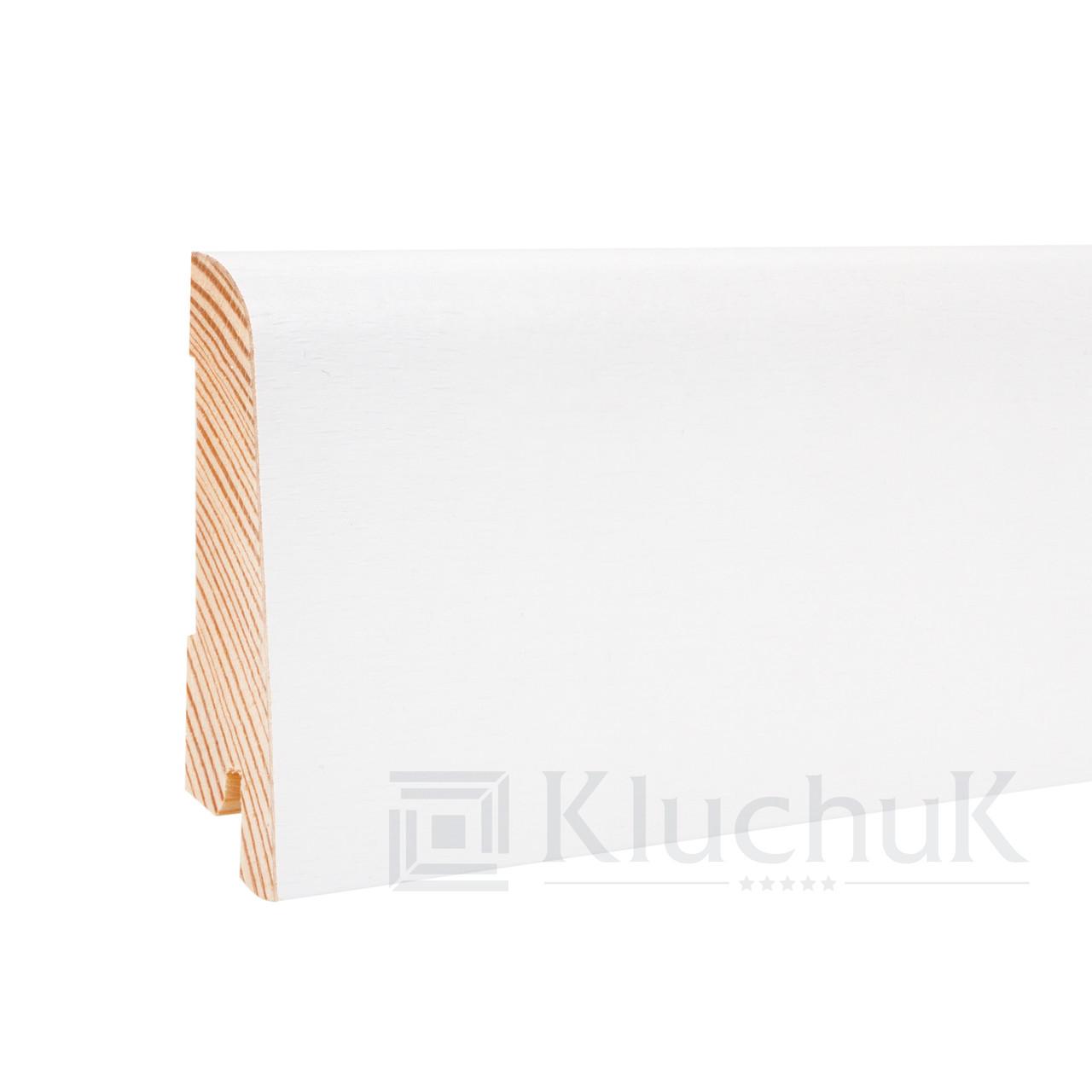 Плинтус Kluchuk White Plinth KLW-01 Евро 60мм