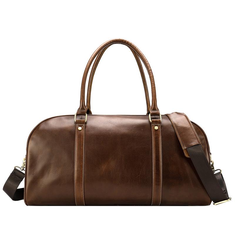 Дорожная сумка кожаная мужская Texas коричневая