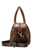 Дорожная сумка кожаная мужская Texas коричневая, фото 3