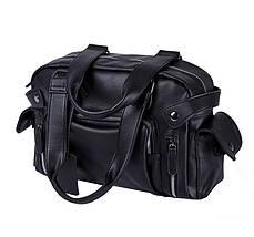 Дорожная сумка мужская BritBag Bailey черная, фото 2